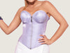 Model 7704 - Delightful And Charming Lavender Blush Satin Steel Boned Corset