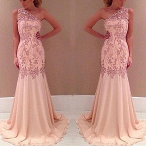 Women Sexy Sleeveless Long Lace Evening Dress