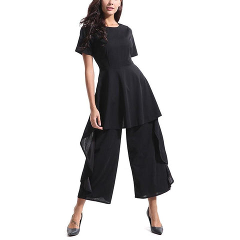 Casual High Waist Loose Wide Legged Jumpsuit
