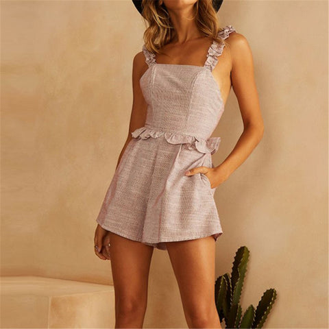 Fashion Leisure Vacation Style Jumpsuit