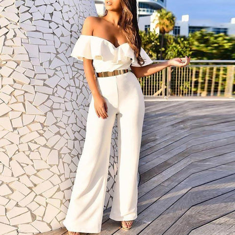 Sexy Ruffled Jumpsuit