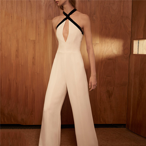 Sexy Sleeveless Cross Hollow Jumpsuit