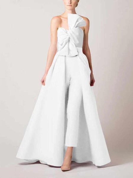 Europe And America Style Off-Shoulder Sleeveless Pure Colour Jumpsuit