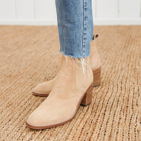 Women's fashion chunky high heel low boots