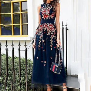 Embroidery Maxi Dresses