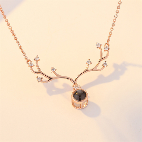 Women's romantic projection s925 silver necklace