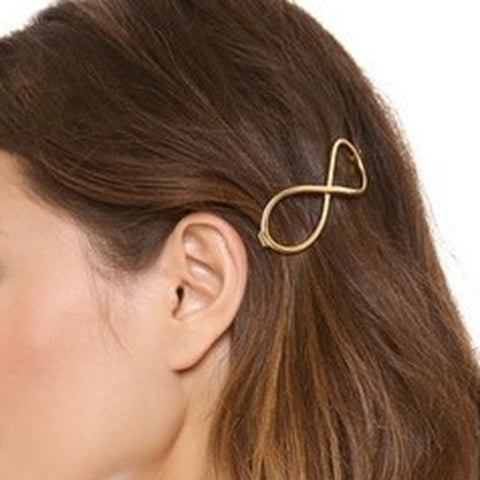 Fashion contracted number eight hairpins hair accessories