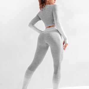 Ombre Seamless Set - Leggings, Sportswear, Sweatpants, Yoga Pants, Fitness, Sport bra, Yoga