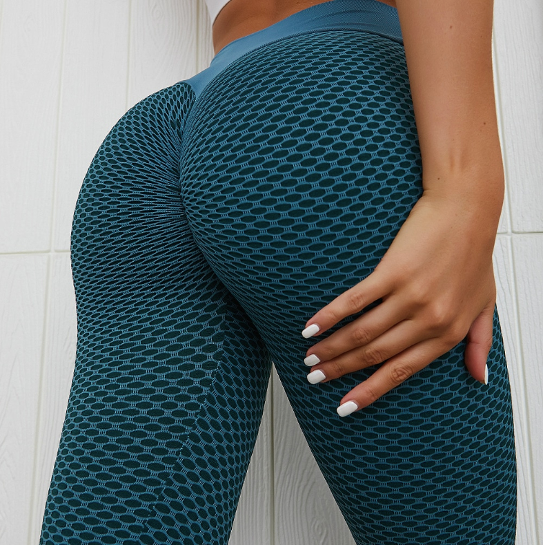 Push Up Honeycomb  Leggings - Leggings, Sportswear, Sweatpants, Yoga Pants, Fitness, Sport bra, Yoga