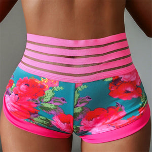 High Waist Flower Pocket Shorts - Leggings, Sportswear, Sweatpants, Yoga Pants, Fitness, Sport bra, Yoga