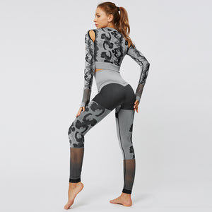 Breathable Camouflage Set - Leggings, Sportswear, Sweatpants, Yoga Pants, Fitness, Sport bra, Yoga