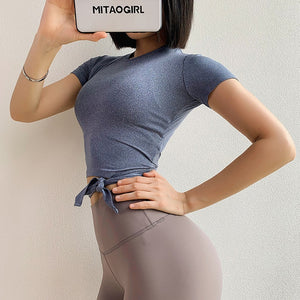 Back Bowknot Yoga Top - Leggings, Sportswear, Sweatpants, Yoga Pants, Fitness, Sport bra, Yoga