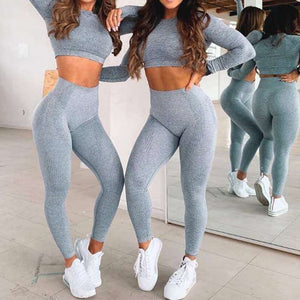 Flawless Elastic Casual Set - Leggings, Sportswear, Sweatpants, Yoga Pants, Fitness, Sport bra, Yoga