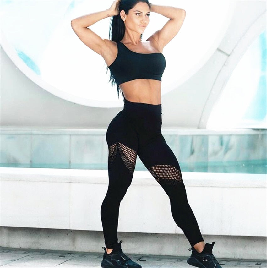 One Shoulder Power Set - Leggings, Sportswear, Sweatpants, Yoga Pants, Fitness, Sport bra, Yoga