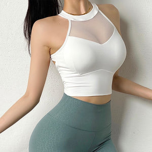 Chest Mesh Yoga Top