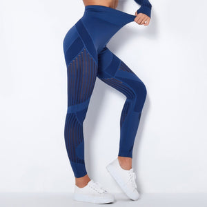 Seamless Mesh Workout Leggings