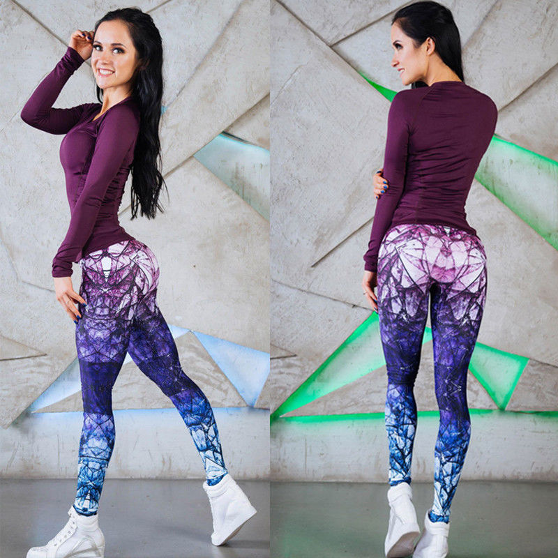 Mandala Purple Fitness Leggings - Leggings, Sportswear, Sweatpants, Yoga Pants, Fitness, Sport bra, Yoga