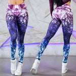 Mandala Purple Fitness Leggings - Fit Spirit