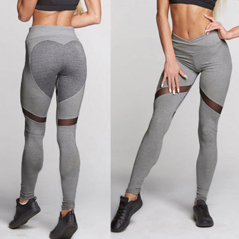 Heart Mesh Leggings - Leggings, Sportswear, Sweatpants, Yoga Pants, Fitness, Sport bra, Yoga