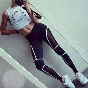 Glowing Gym Mesh Leggings - Leggings, Sportswear, Sweatpants, Yoga Pants, Fitness, Sport bra, Yoga