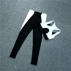 Black & White Stylish Set - Leggings, Sportswear, Sweatpants, Yoga Pants, Fitness, Sport bra, Yoga