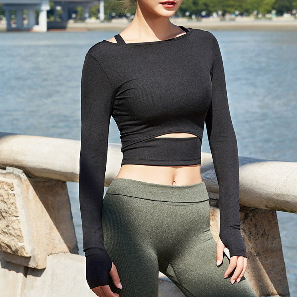 Workout Thumb Hole Top - Fit Spirit