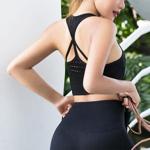 Seamless Cropped Back Tank Top - Fit Spirit