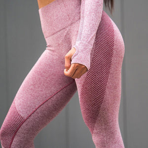 Elastic Gym Mesh Leggings - Fit Spirit