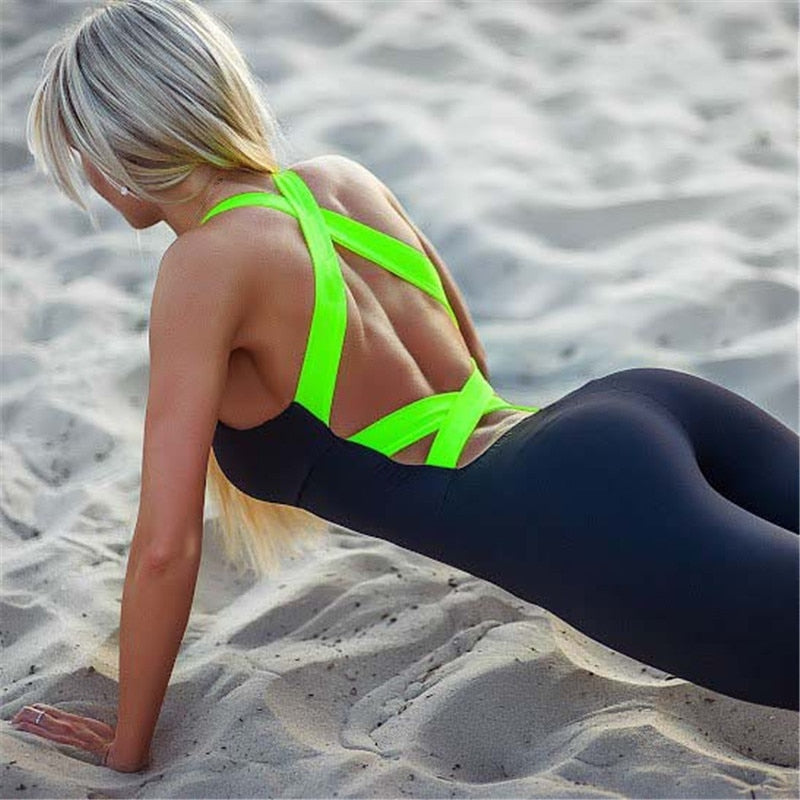 Sexy Backless Jumpsuit - Leggings, Sportswear, Sweatpants, Yoga Pants, Fitness, Sport bra, Yoga