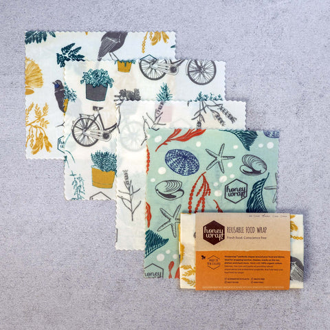 Natural and organic Beeswax wraps.