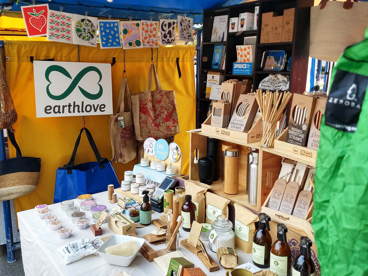 Earthlove's Eco Friendly Market Display.
