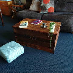 Bespoke toy box with books and a plant