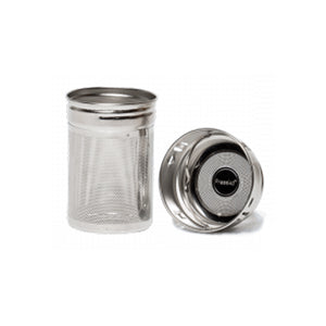 Reusable stainless steel 2in1 tea strainer.