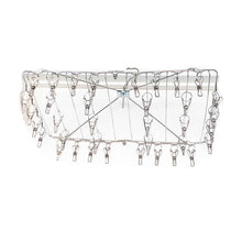 Heavy Duty stainless steel sock / laundry hanger with 36 pegs.