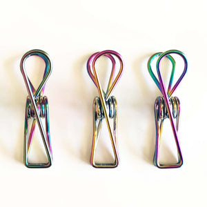 Three Rainbow Stainless Steel Pegs