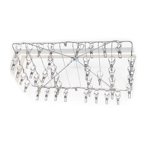 Heavy Duty foldable stainless steel sock / laundry hanger with 42 pegs.