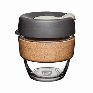 Photograph of small reusable coffee cup.