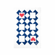 Designer tea towel in Ace of Hearts design.