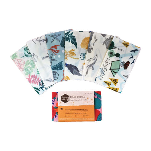 Organic beeswax wrap designs.