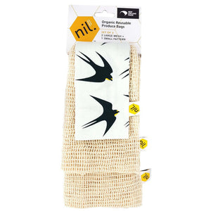 Bird Design Produce Bags Made in NZ