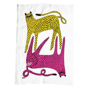 Tea towel with two cheetah design by Studio Soph.
