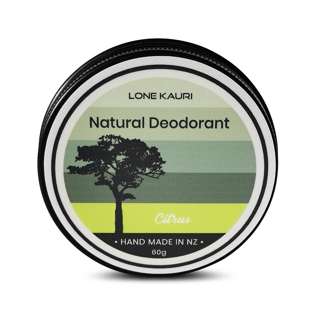 Lone Kauri natural deodorant in citrus scent