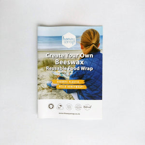 Instruction guide for DIY Beeswax wrap kit