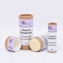 Natural, compostable and vegan deodorant in Grapefruit and Lavender fragrance.