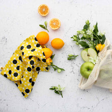 Yellow Dots Design Produce Bag with Fruit