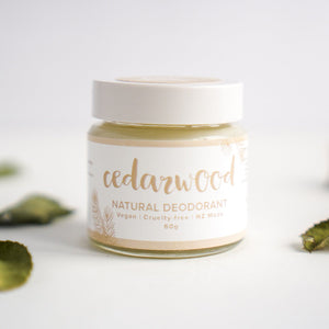 Eco Friendly Cedarwood Deodorant.