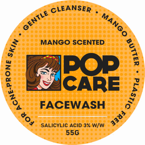 Mango Scented Pop Care Facewash for acne prone skin