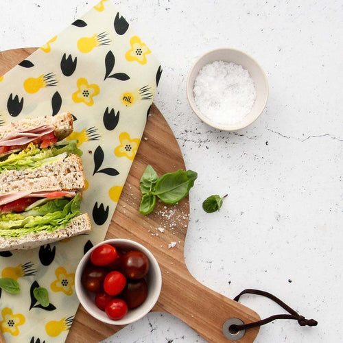 Yellow Flower Vegan Sandwich Wrap