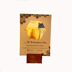Beeswax cheese bag for keeping your 1kg block of cheese fresh.