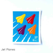 Dish cloth with Jet Plane design.